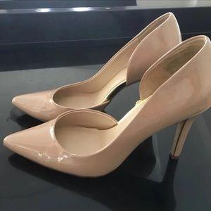Beige heels pumps size 8